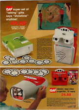 1976 ADVERTISEMENT Viewmaster GAF Viewer Projector Talking Watch Evel Knievel