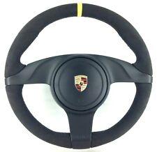 Genuine Porsche 911 997.2 987.2 Alcantara complete steering wheel. SUPERB!   17C