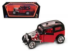 1931 Ford Model A Custom Red/Black Custom 1/18 Diecast Model Car by Road Signatu