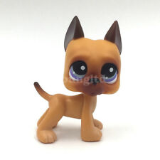Cute Littlest Pet Shop GREAT DANE #244 LPS DOG kids action Figure Toy Doll Gift