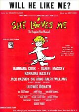 "Barbara Cook ""SHE LOVES ME"" Jack Cassidy / Bock & Harnick 1963 Sheet Music"