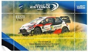 Stamp of ESTONIA 2020 - WRC Rally Estonia 751-04.09.20 MNH