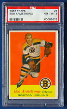 1957 TOPPS Hockey Bob Armstrong #3 PSA 8 NM-MT!