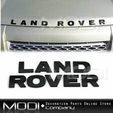 LAND ROVER BLACK LETTER EMBLEM BADGE BONNET TRUNK BOOT HOOD LAND SUPERCHARGED