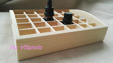 Essential Oil Wood Box Holds 30 Bottles 10ml Aromatherapy Storage Display Case