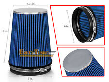 """BLUE 6"""" Inlet 152mm Cold Air Intake Cone Universal TRUCK FILTER For Chevy"""