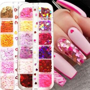 Nail Art Decorations Nail Sequins Mixed Color Sparkle Nail Glitter Flakes 3D new