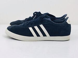 Adidas Womens Courtset Sneaker - Blue/White/Gold AW4212 Size 7