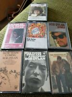 Bob Dylan 7 Cassette Tapes Album Collection - Tested