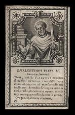 santino incisione 1600 S.VALENTINO PRETE M.