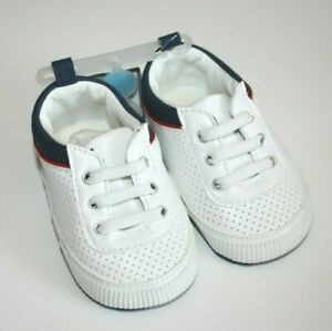 Carter's Baby Boys Devin Sneakers White 0-3, 3-6, 12-18 NEW NWT MSRP: $22.00