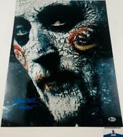 Tobin Bell signed metallic 16x20 photo SAW BAS H33887 Billy Horror autograph