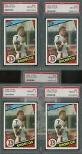 Lot of (5) 1984 Topps Football #63 John Elway Broncos RC Rookie PSA 8 NM-MT