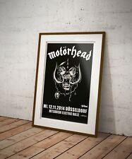 More details for motorhead reproduction concert poster print dusseldorf lemmy