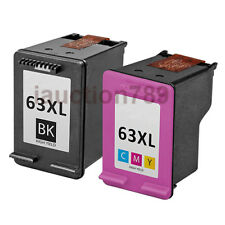2x  HP 63XL Ink Cartridges Compatible for Officejet 3830 4650 Envy 4520 4523