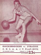 1955  New York Knickerbockers vs Syracuse Game Program