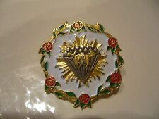 Masonic Potentate Pin Pendant Roses Enamel Vintage 1991