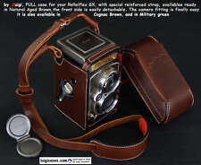 LUIGI NEW FULL CASE+STRAP to RECENT ROLLEIFLEX GX TLR, NATURAL AGED BROWN,READY