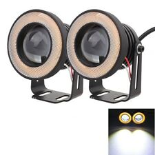 2 PCS 2.5 inch 10W 900LM White + Yellow Light 6500K Waterproof LED Eagle Eye Lig