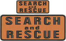 Search and Rescue embroidery patches 4x10 and 2x5  hook on back orange and black