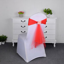 Wedding Party Stretch Chair Cover Band Bow Sashes Decor YS