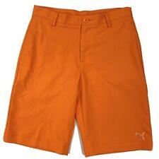PUMA Golf DryCell Men's Sz XL Orange Wicking Flat Front Shorts UK Sz 30