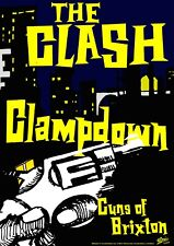 """Reproduction Alternate """"The Clash - Clampdown"""" Poster, Punk, Size A2"""