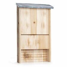 Premium Quality Bat House - Outdoor Bat Box Shelter w/ Metal Roof  
