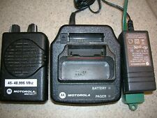 Motorola Minitor V(5) Two Channel Low Band 45-48.995 Mhz Stored Voice Sv Pager