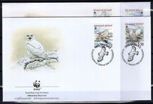 BT142623/ GREENLAND – WWF – SNOWY OWL – Y&T # 310 / 313 USED – FDC – COMPLETE