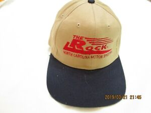 "NASCAR HAT  "" THE ROCK "" NORTH CAROLINA MOTOR SPEEDYWAY... NEW W/O/TAGS TAN"