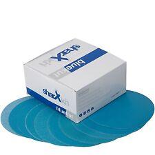 """6"""" Film Sanding Discs 0-Holes Hook & Loop 100-Pack, Mixed Grits"""