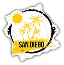 """San Diego Grunge Rubber Travel Stamp USA Car Bumper Sticker Decal 5"""" x 5"""""""