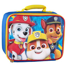 Paw Patrol Kids Nylon Lunch Bag Zipper Closure Top Carry Handle Kids Lunch Tote
