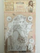 Docrafts Santoro London - Willow Rubber Stamp Set - Le Message NEW