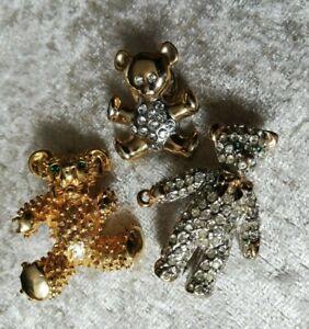 Schmuck Konvolut Broschen, Hut Pin, Bären,Gold / Silberfarben, ROYAL