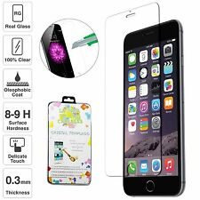 9h Hard Premium Tempered Glass Guard Screen Protectors Film for Apple iPhone 6 2x Front