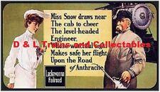 Billboard for Plasticville Holder Lackawanna Railroad Phoebe Snow and Engineer