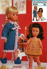 "Dolls clothes knitting pattern.14""-16""-18""doll. Laminated  copy.( V Doll 187)"