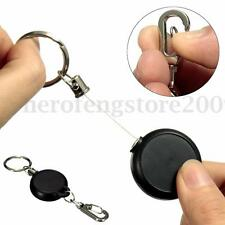 Retractable Badge Keychain Recoil ID Card Holder Key Chain Cord Pull Carabiner