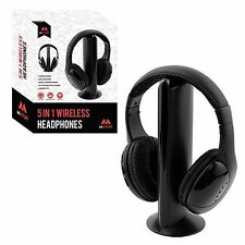 Benross 43300 5in1 Wireless Headphones 8m Range Built in FM Radio and Microphone