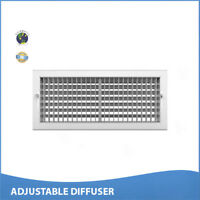 """10""""w x 10""""h ADJUSTABLE DIFFUSER - Vent Duct Cover - Grille Register - Sidewall"""
