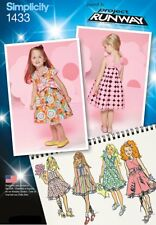 Simplicity Sewing Pattern 1433 Toddlers Girls ½-3 Dresses with Bodice Variations