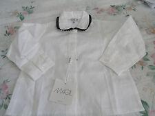 Magil Girls' White Top w/Black Trim on Collar (6 Month) MSRP:  $62.00