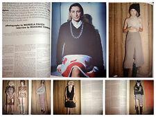 Miuccia Prada clipping lot 2009 Purple Fashion Manuela Pavesi Miu Miu Torrigiani