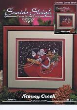 Le traîneau du Père Noël De Penny Lane Cross Stitch Chart-Stoney Creek