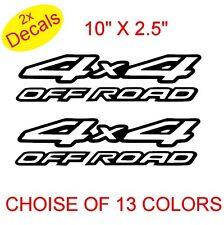 4 x 4 OFF ROAD vinilo Stickers Decals gráficos x2 (diseño 2) 13 colores a elegir