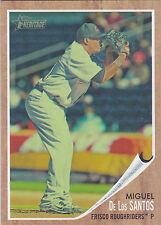 Miguel De Los Santos Texas Rangers 2011 Topps Heritage Minor League Green Tint