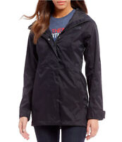 New The North Face Womens Athletic Black City Midi Trench Jacket Hiking Coat L