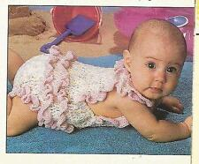 CROCHET PATTERNS: BABY SUNSUIT ROMPER, CRIB QUILT AFGHAN, DISH SOAP DRESS, DOILY